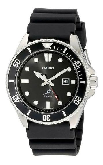 Relógio Pulseira De Resina Sea Duro Casio Mdv106-1a 200m