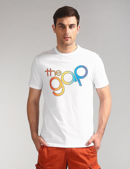Remera Gap Con Logo Pride. Original Usa