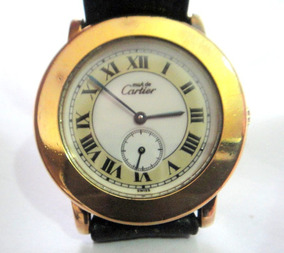 Relógio Must De Cartier Ronde 1810 1 Prata Banhado A Ouro