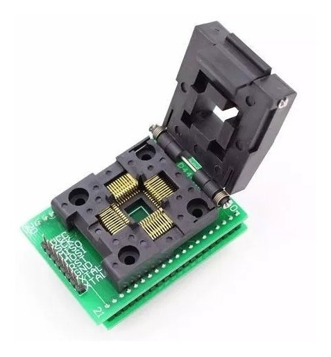 Adaptador Tqfp44 Qfp44 Lqfp44 To Dip40 Socket 0.8mm Pitch
