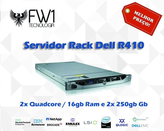 Servidor Rack Dell R410 Quadcore / 16gb Ram E 2x 250gb Gb