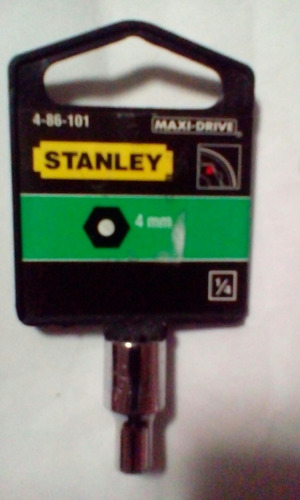 Dado Hexagonal Corto 1/4  X 4 Mm Stanley Precio X 2 Pza