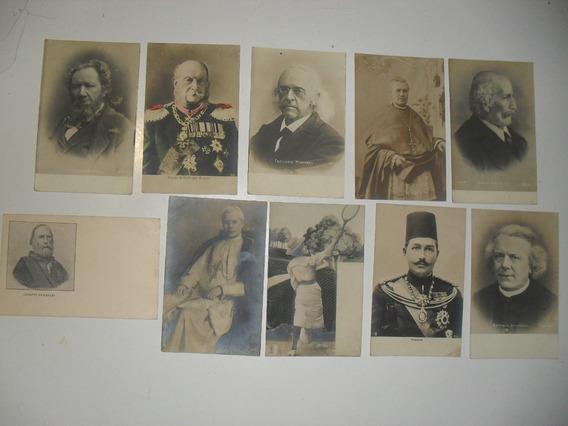 Lote 10 Postales Antiguas Personalidades Historicas