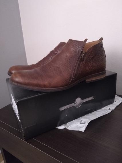 Zapatos Tipo Botineta Con Doble Cierre