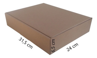 75 Caixas De Papelão 31,5x24x6,5 Para Correio Mercado Envios