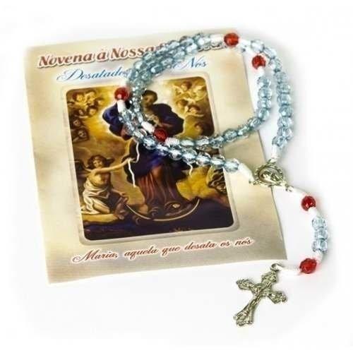 Terço Oração Nossa Senhora Desatadora De Nós Conta Azul