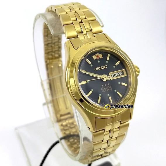 Relógio Automatico Orient 25mm Fnq0400fb9 Original Feminino
