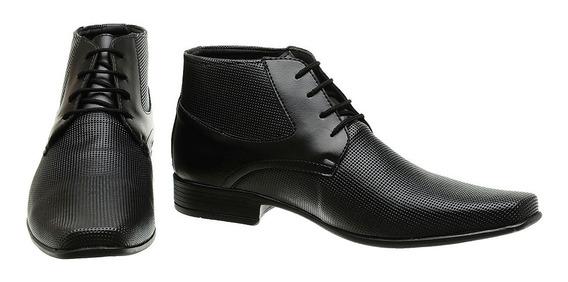 Sapato-social-botinha-cadarço-cano Curto