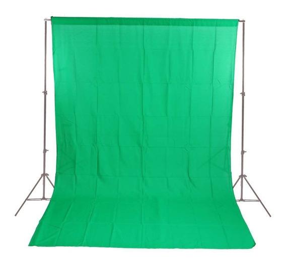 Fundo Infinito Em Tecido Muslin Verde Chroma Key 2x2,8m