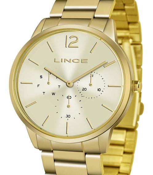Relógio Lince Dourado Analógico Lmgj087l C2kx Feminino C/nfe