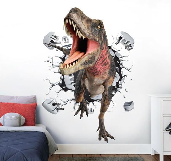 Vinilo Decorativo 3d Dinosaurios-i 01 Tiranosaurio Sticker