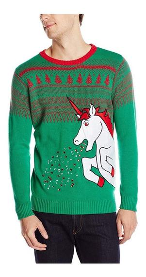 Christmas Ugly Sweater Hombre Feo Navidad Unicornio Talla L