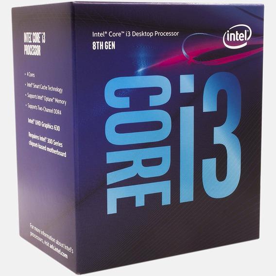 Processador Intel Core I3 8100 8ª Ger. 3.6 Ghz 6 Mb C/ Nf