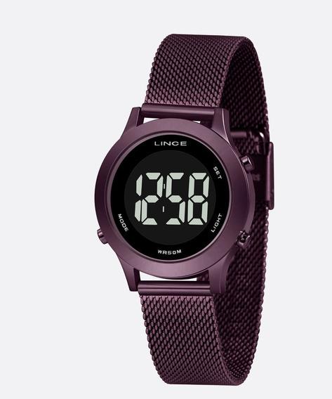 Relógio Lince Feminino Digital Violeta Esteira Sdph115l