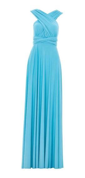 Vestido Festa Longo Tiffany Rodado Várias Formas Amarrar L99