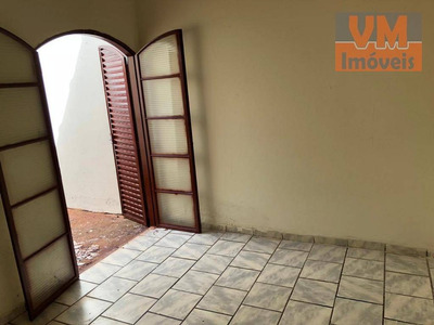 Casa 3 Dormitórios Para Locação, Parque São Sebastião, Ribeirão Preto. - Ca1044