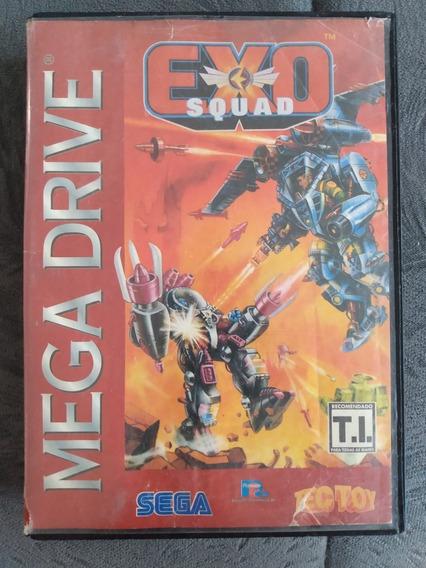 Cartucho Mega Drive Jogo Exo Squad - Tec Toy - Original Raro