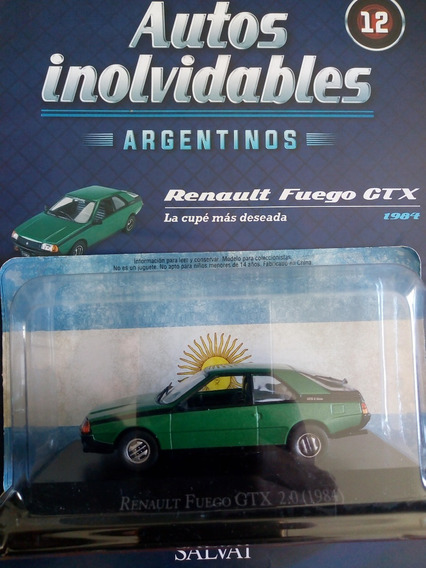 Autos Inolvidables Argentinos Renault Fuego Gtx Nº12 Salvat