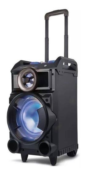 Caixa De Som Torre Amplificada Led Bluetooth Sd 150w Rms Mic