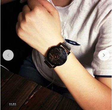 Relógios De Pulso Analógico, Aço Inoxdavel Masculino Quartz