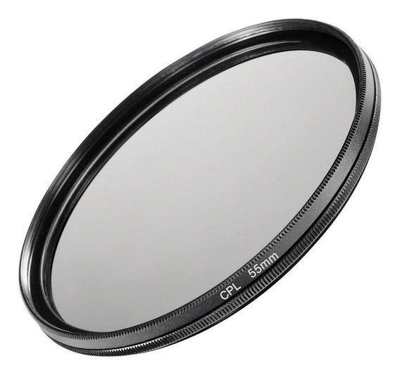 Filtro Cpl Polarizador Polarizante Lentes Dslr Câmeras Fotográficas 55mm Canon, Nikon, Sony, Fuji, Etc. Universal