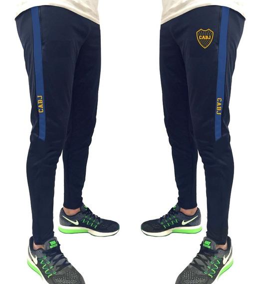 Pantalon Chupin Boca Juniors Con Tira Lateral