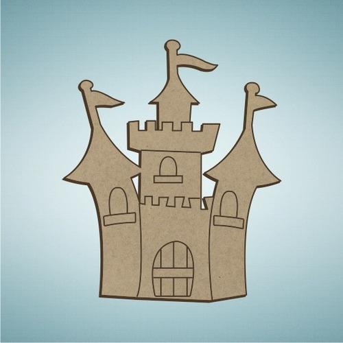 Imagen 1 de 7 de Kit 50 Figuras Mdf 25cm Princesas Y Osos