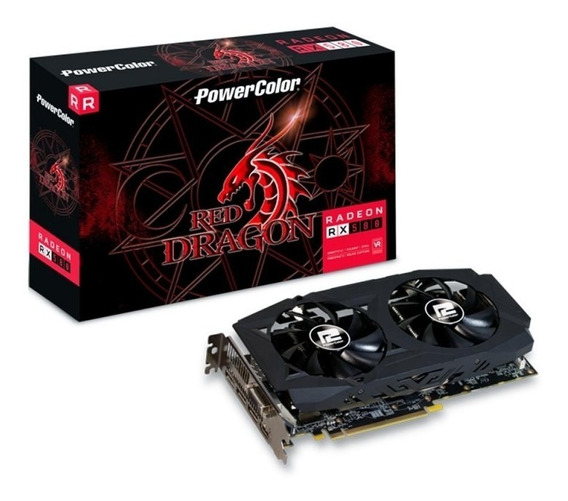 Rx580 8gb Gddr5 256 Bits Red Dragon Powercolor