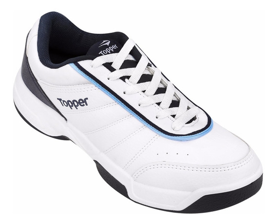 Zapatillas Topper Modelo Tenis Tie Break 3 Blanco/azul