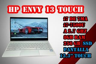 Laptop I7 Hp Envy 13 I7 7ma Gen 8gb 256gb Ssd M.2 Touch 13.3