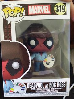 Funko Pop Deadpool As Bob Ross En Perfecto Estado