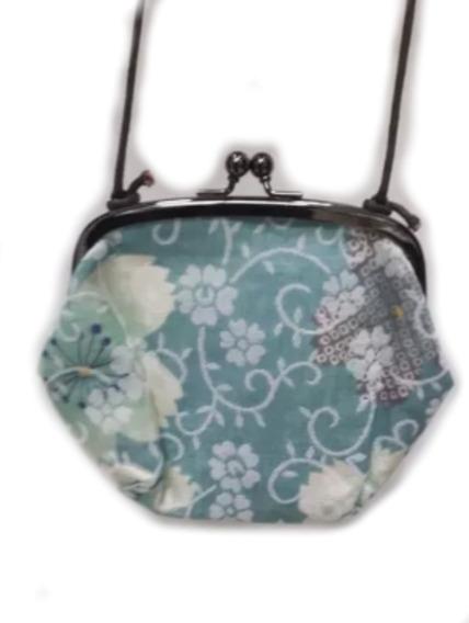 Bolsa Porta Moedas Tecido De Kimono Japonês Importado Alça