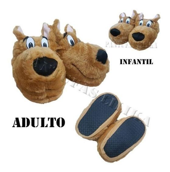 Pantufa Scooby Doo Unisex Infantil Adulto Hora Do Terror