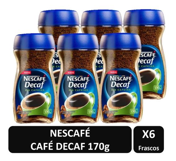 Café Nescafé Decaf 170g Pack X6