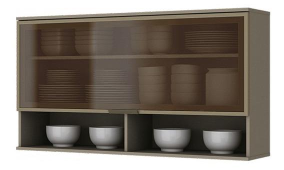 Armário De Cozinha Aéreo Henn Connect 1porta Basculante Vidr