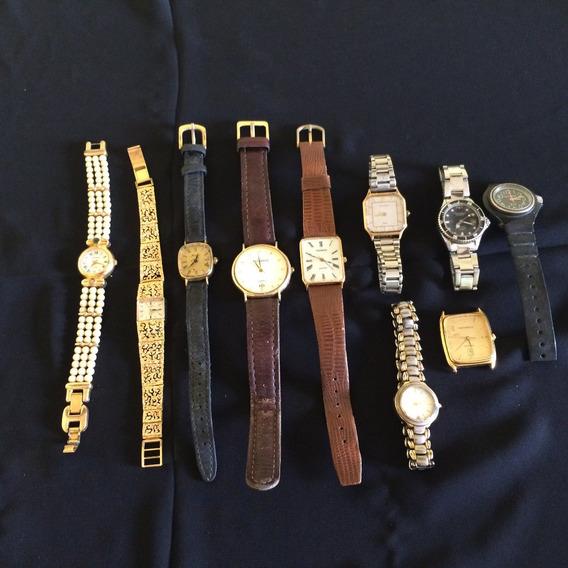 Lote 9 Relógios De Pulso Masculino É Feminino Technos