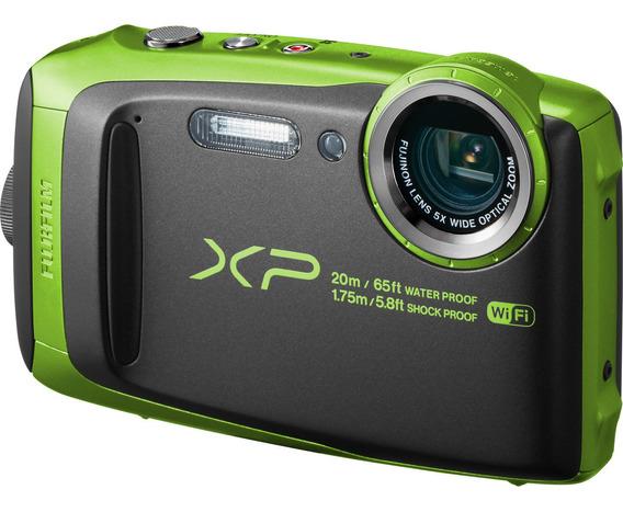 Camera Fujifilm Xp-120 Prova De Agua 20m Verde
