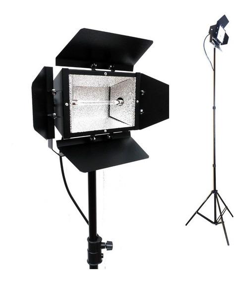 2x Tripé 2m + Iluminador C/ Lâmpada 1000w/110v - Foto Vídeo