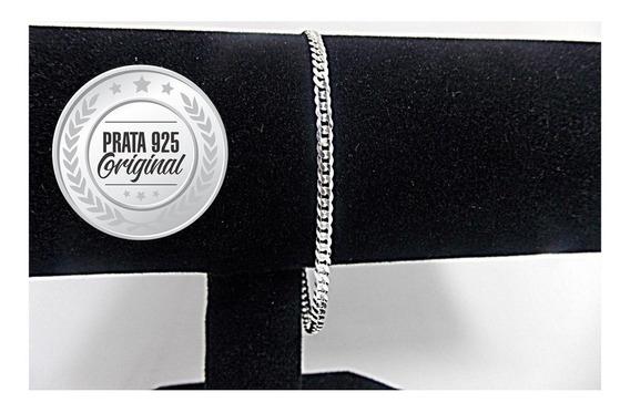Pulseira Prata Italiana 925 20cm 4,5g Grumet Maciça