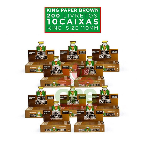 Kit 10 Caixa Seda Smoking King Paper King Size Atacado