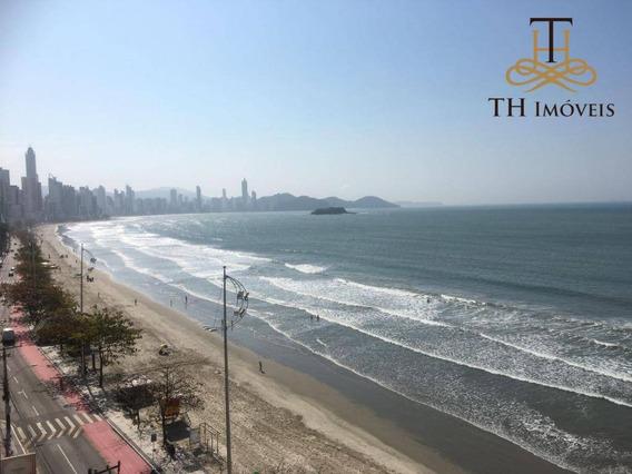Apartamento Frente Mar De 3 Dormitórios, Dep De Empregada E 2 Vagas Privativas Para Locação Anual Em Balneário Camboriú/sc - Ap0503