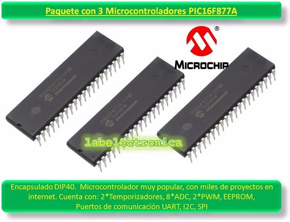 Pic16f877a -i/p Paquete X3 Microcontrolador Pic