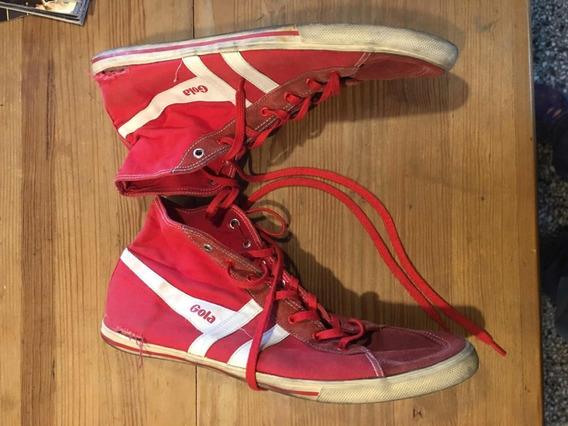 Zapatillas Gola Botitas Usadas Rojas 45 12 Us