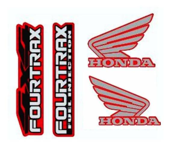 Kit Adesivo Paralama Quadriciclo Honda Fourtrax 420 Até 2013