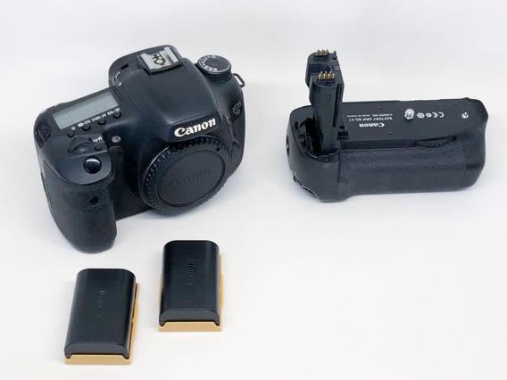 Câmera Canon 7d Com Grip Original+2baterias+3 Compact Flash