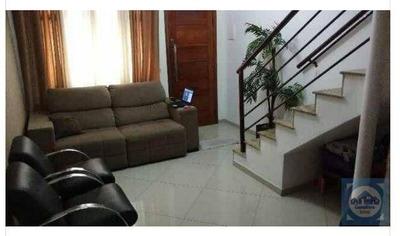 Casa Com 2 Dormitórios À Venda, 62 M² Por R$ 243.800 - Parque Bitaru - São Vicente/sp - Ca0752