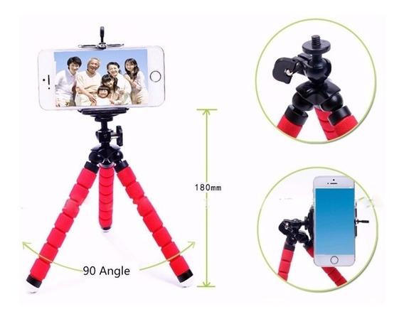 Mini Tripé Flexível Choki Suporte Celular Go Pro Cameras