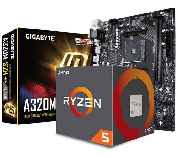 Ryzen 5 1600 + Mother A320 + 4gb + Gabinete 500w