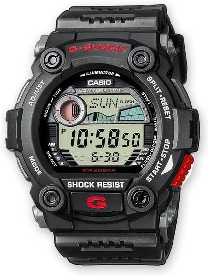 Reloj Casio G Shock G 7900 Fases Lunares Grafico De Mareas Cristal Mineral Sumergible