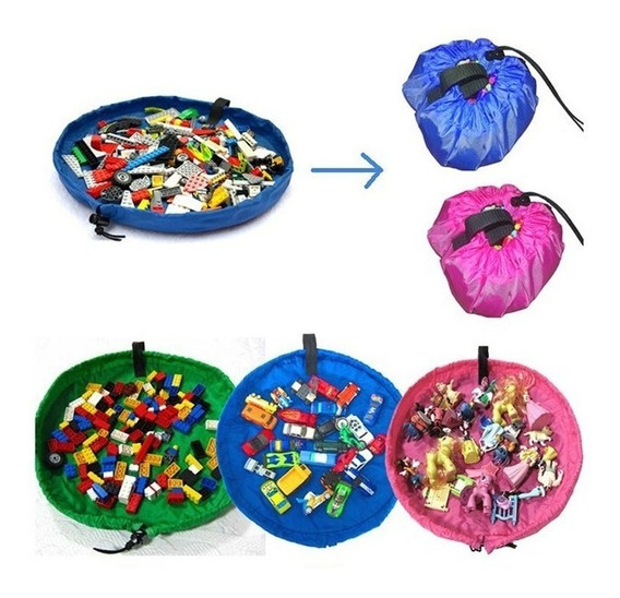 Tapete Infantil 2em1 Vira Saco De Brinquedo Lego Meninas